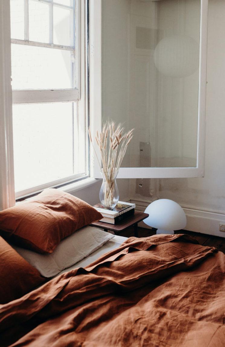 Le orange en déco et autres couleurs d'automne // IN BED Store - Project: Tobacco Linen