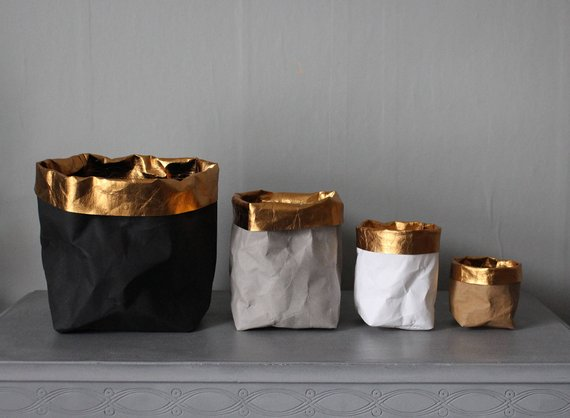 Sacs en papier lavables - Boutique Etsy Warm Grey Compagny