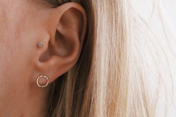 Boucle d'oreilles Petit cercle - Boutique Etsy Wild Fawn Jewellery