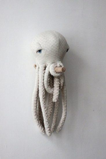 Petite pieuvre albinos - Boutique Big Stuffed sur Etsy