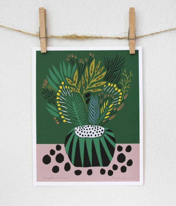 Affiche La Planta Uno Print - Boutique Etsy Leah Duncan