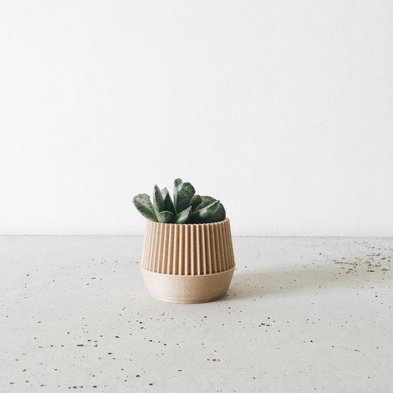 Cache-pot en bois, Low poly - Boutique Etsy Minimum Design