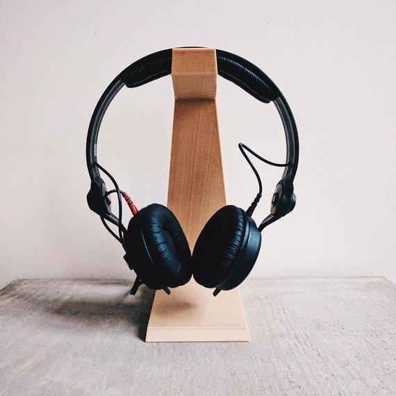 Porte casque en bois design - Boutique Etsy Minimum Design