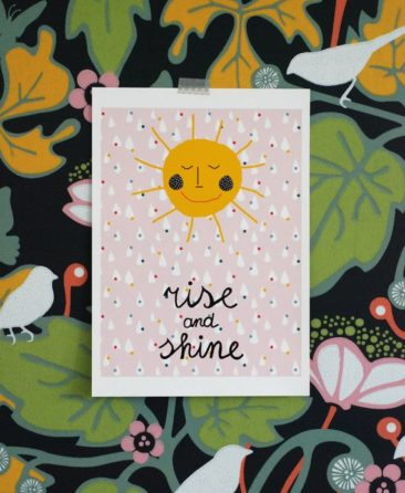 Affiche A3, Rise and Shine - Boutique Ninaivorn sur Etsy