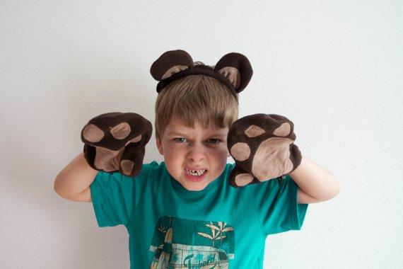 Gant patte d'ours avec son bandeau O kidz sur Etsy