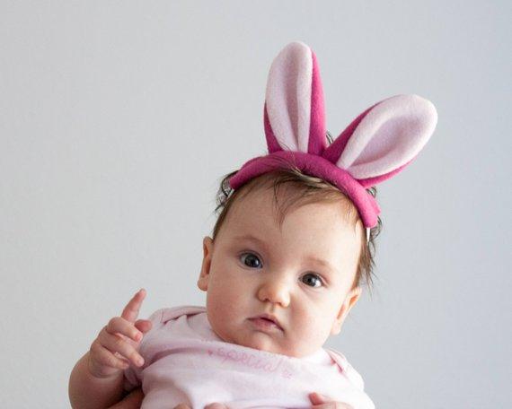 Bandeau élastique bébé, Lapin - Boutique O Kidz sur Etsy