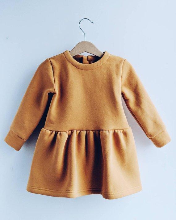 Robe sweet, moutarde - Boutique Omoloko sur Etsy