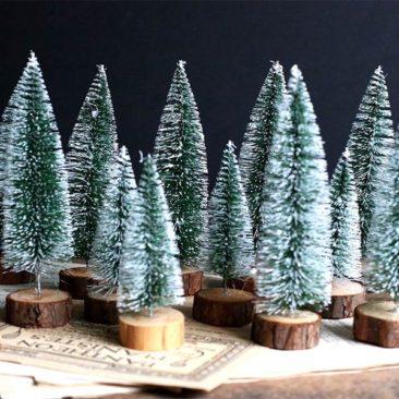 Christmas Trees Shabby - French Vintage sur Etsy - 4,50 € en 13 cm