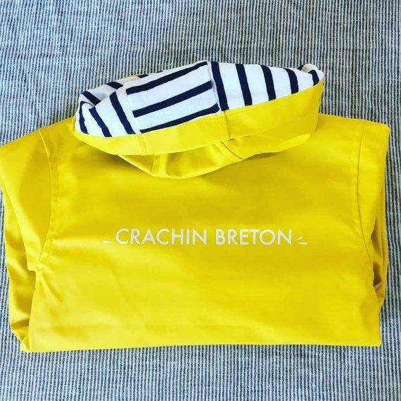 Ciré enfant jaune ou bleu, Crachin Breton - Suite Créative sur Etsy