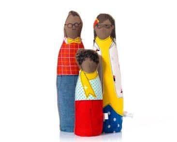 Poupées en tissu, portrait de famille - Boutique Timo Handmade sur Etsy