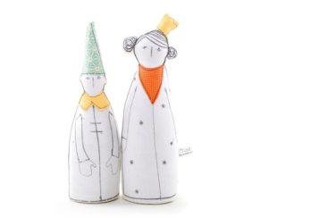 Poupée en tissu, prince et princesse - Boutique Timo Handmade sur Etsy