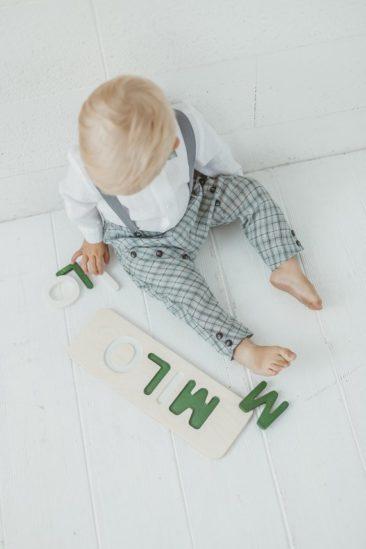 Puzzle prénom personnalisable - Boutique Woodinout sur Etsy