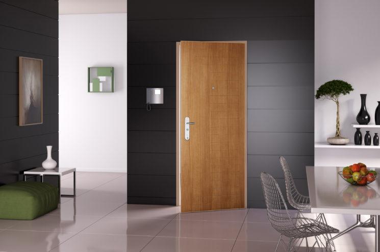 6 astuces pour rendre sa porte d'entrée design et glamour // Point Fort Fichet - Modèle Spheris XP intérieur chêne clair