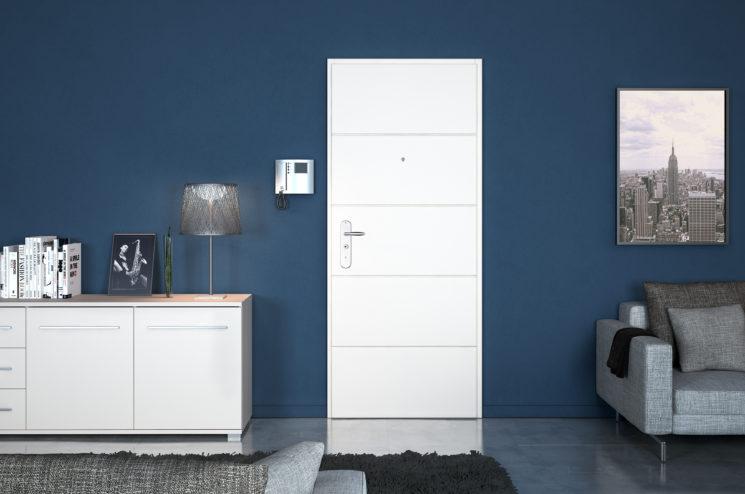 6 astuces pour rendre sa porte d'entrée design et glamour // Point Fort Fichet, modèleSpheris XP intérieur blanc