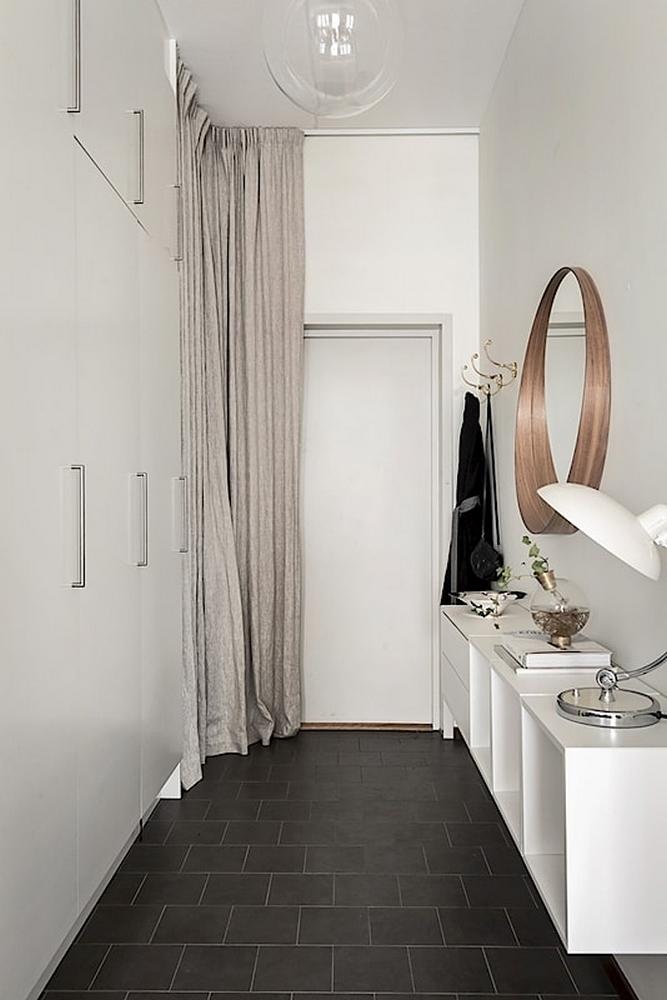 6 astuces pour rendre sa porte d'entrée design et glamour // Cacher sa porte d'entrée avec des rideaux