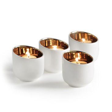 Photophore porcelaine Milioto - Ampm - 20 € le lot de 4