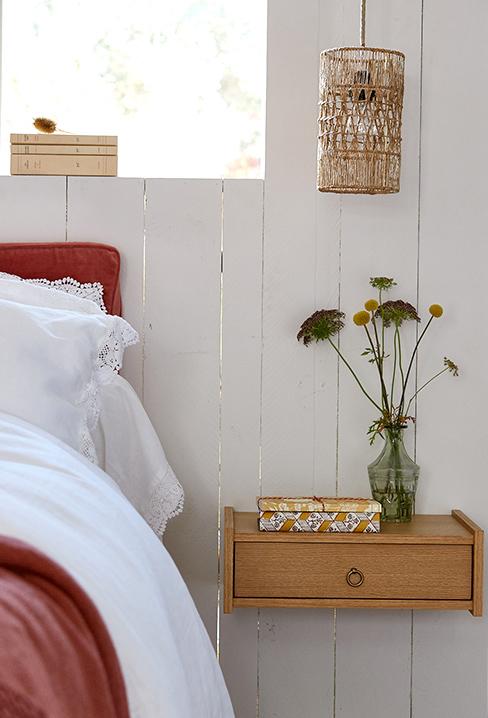 Une jolie collab Billie Blanket et La Redoute Intérieurs // Chevet mural en chêne