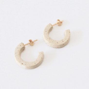 Boucles d'oreilles en laiton, ligne et demi cercles - Boutique Etsy Philo K studio