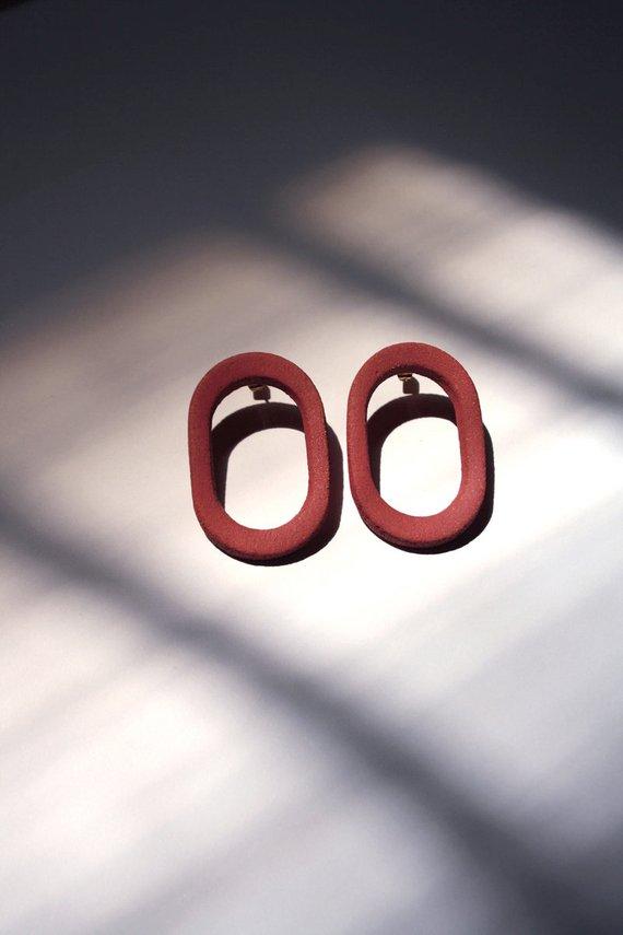 Boucles d'oreilles en grès, MIIA - Boutique Etsy Philo K studio