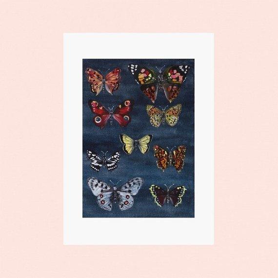 Affiche papillon - Boutique Etsy Sonia Cavallini