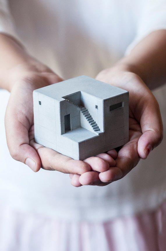 Maison miniature en ciment - Boutique Etsy Material Immaterial
