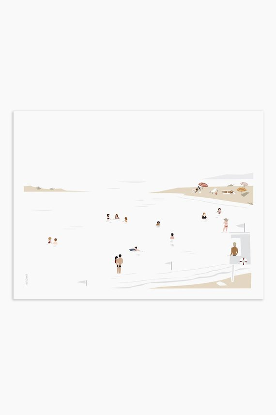 Affiche plage moderne, le pariétal - Boutique Etsy Micush