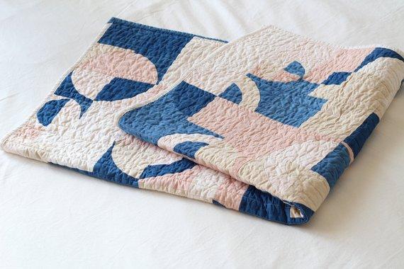Quilt Patchwork, teint à la main - Boutique Etsy Marram Design