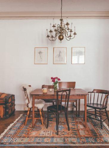[ Idée déco ] Un tapis persan dans la cuisine // Une maison vintage à Baltimore