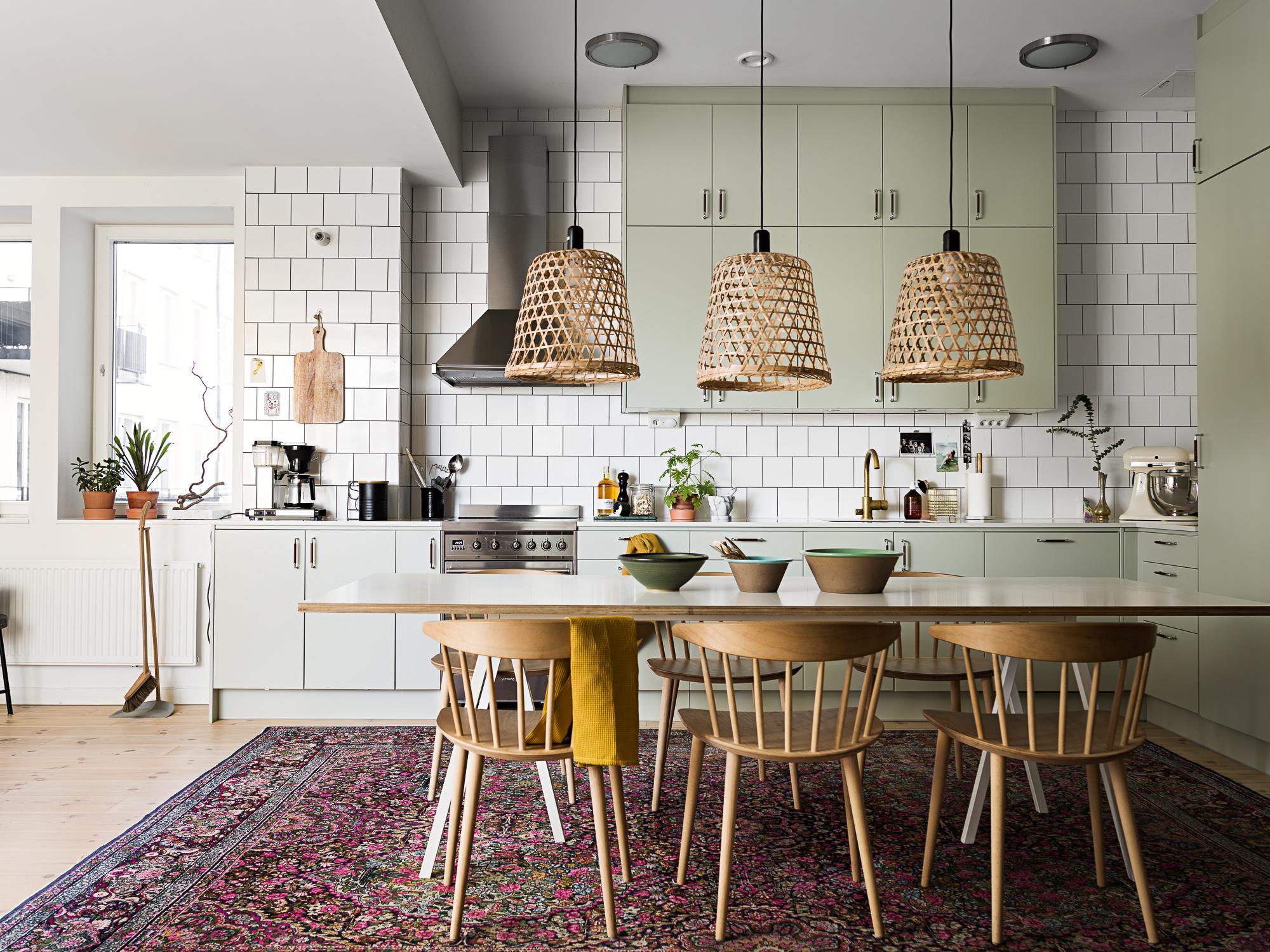 Idée déco ] Un tapis persan dans la cuisine - Turbulences Déco