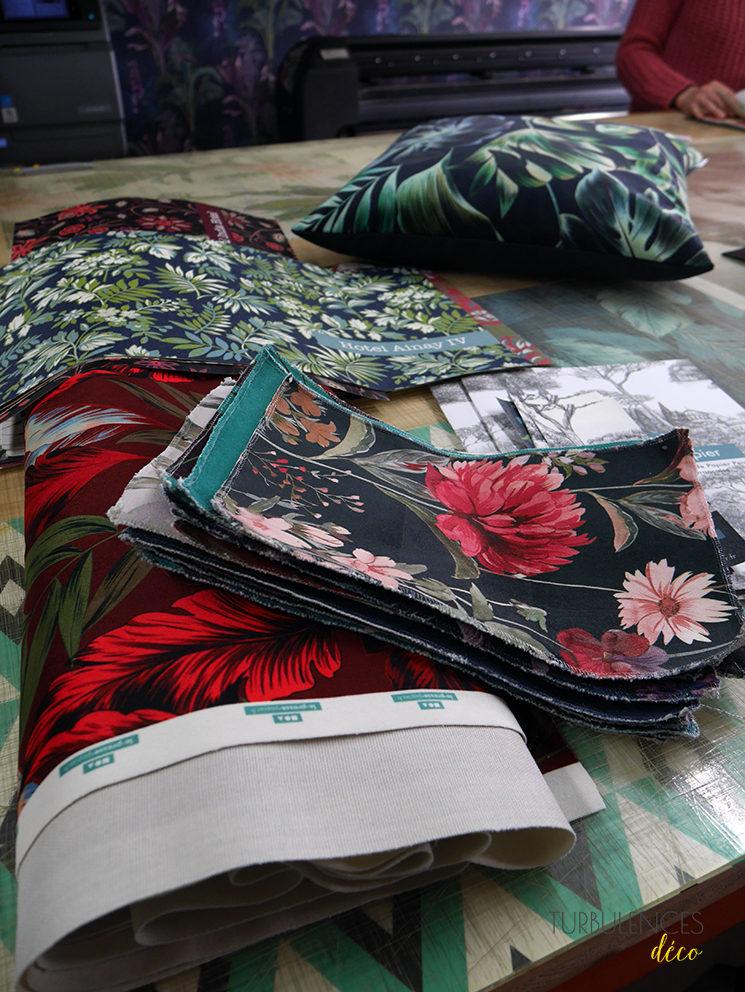 Le Presse Papier, éditeur de papier-peint lyonnais // Nouveauté : édition de tissus