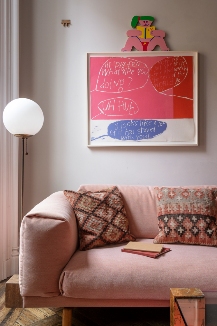 [ Inspiration déco ] Rose toujours, rose bohème en déco || L'intérieur de Julia Sherman à Brooklyn