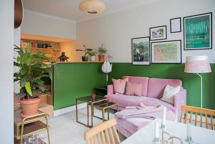 La couleur verte en déco // Un Appartement à Malmö