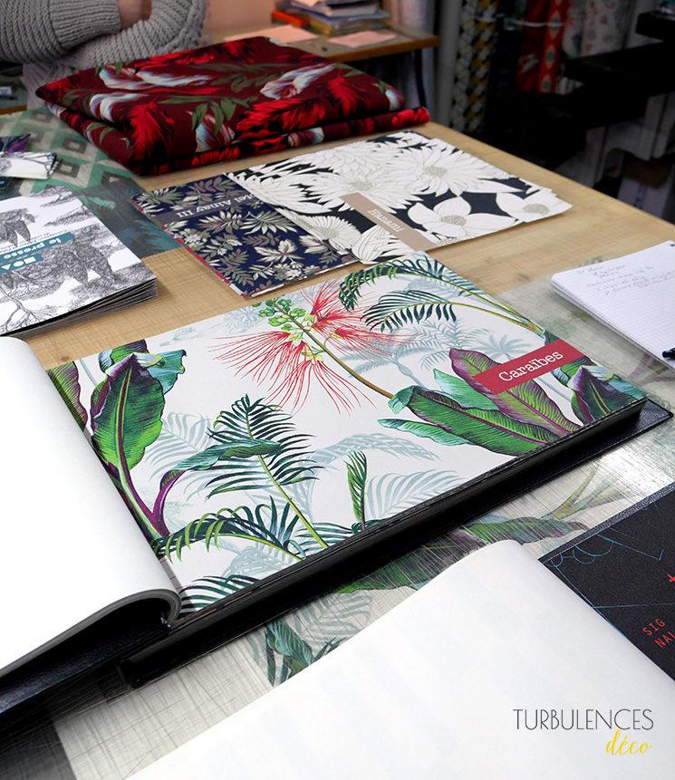 Le Presse Papier, éditeur de papier-peint lyonnais // Modèle Caraïbe