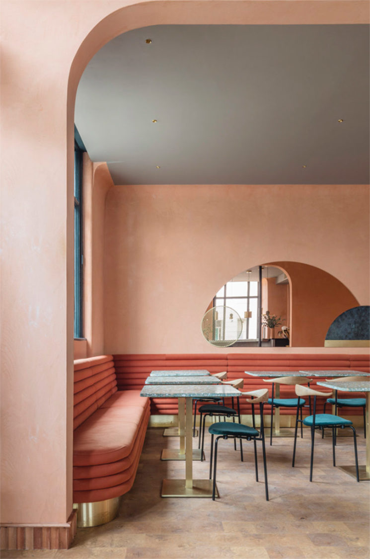 Restaurant Omar's Place à Londres, design intérieur : Sella Concept