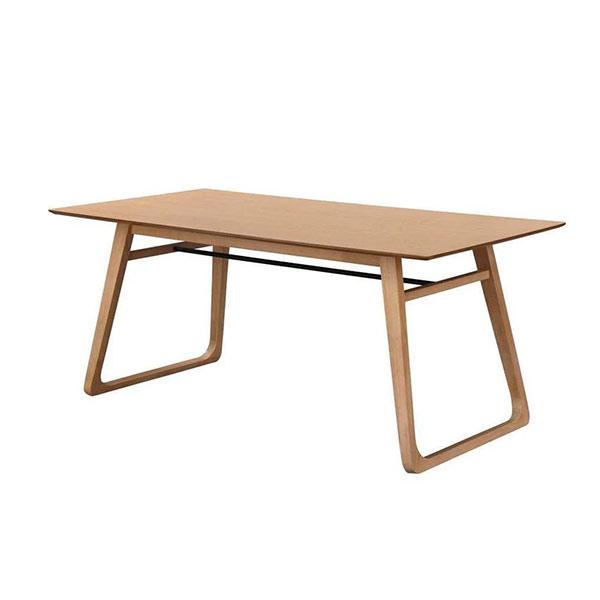Table à manger en plaquage de chêne, KARE - Delorm