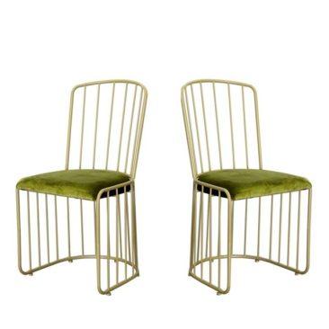 Chaise en métal et velours, Diva - Drawer