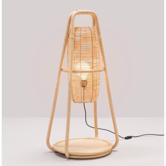 Lampe en rotin, NACELLE, design Jean-Michel Policar pour Orchid Edition pour Kok