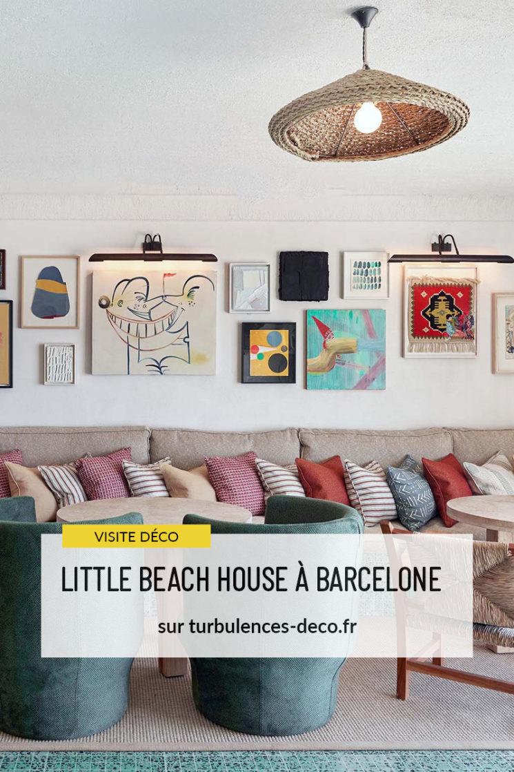 L'hôtel Little beach house à Barcelone, bohème coloré à retrouver sur Turbulences Déco