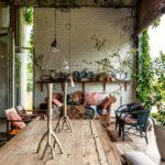 Une ferme en Afrique du sud bohème et moderniste