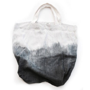 Etsy Aya textile craft works - Sac tie and dye en lin Ombre