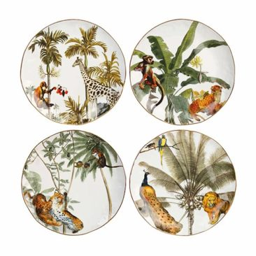 Assiette en porcelaine, Jungle - &Klevering
