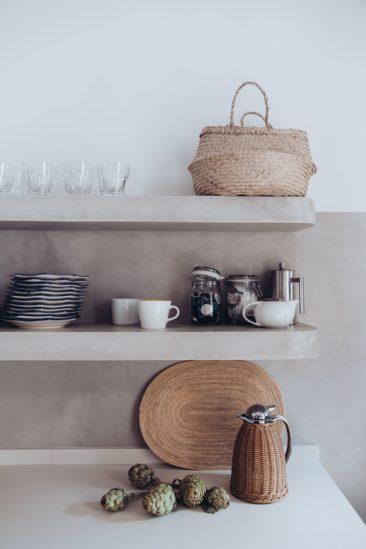 Petites étagères de cuisine