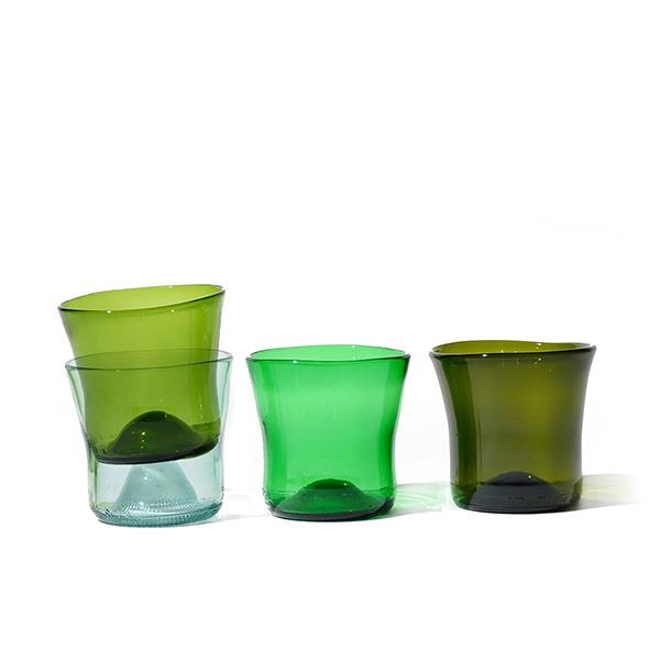 Ensemble de verres en verre recyclé N°6 - Samesame