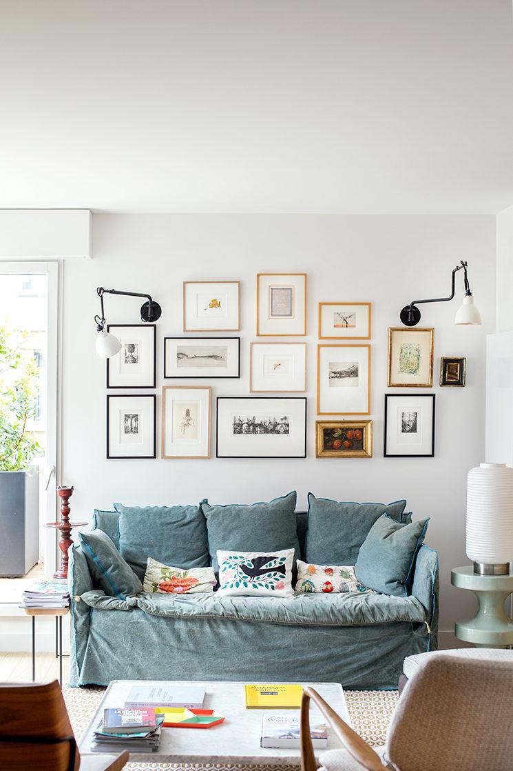 Et pourquoi pas un canapé en lin bleu ciel / Marion Deriot – Projet Hervieu