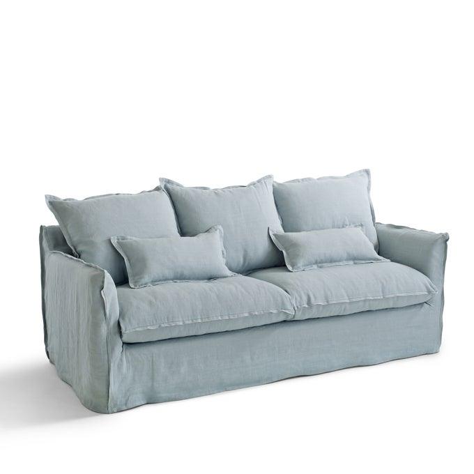 Canapé en lin froissé bleu clair, Odna sur La Redoute Intérieurs