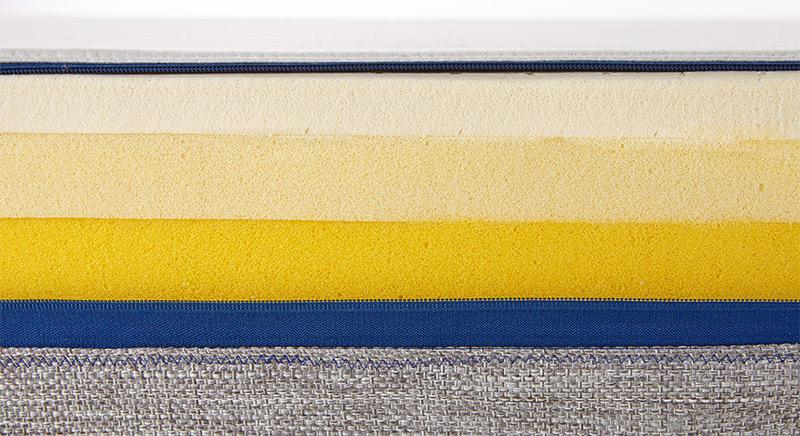 Le secret du matelas Tediber tient à ses 3 couches qui permettent d'assurer ce confort ferme et moelleux à la fois