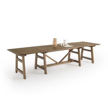 La Redoute Intérieurs - Table à manger pin massif 6/12 couverts, Wabi