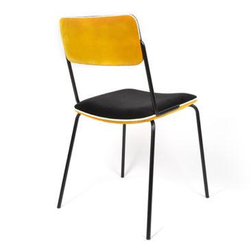 Chaise en velours ocre, Double-Jeu - Maison Sara Lavoine