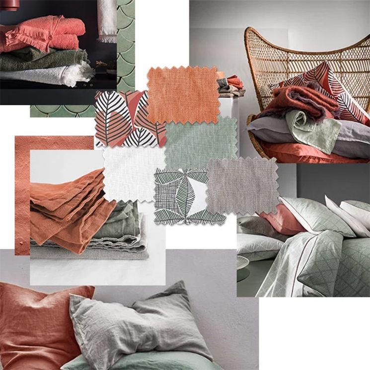 Mood board d'automne par la marque de linge de lit Blanc Cerise