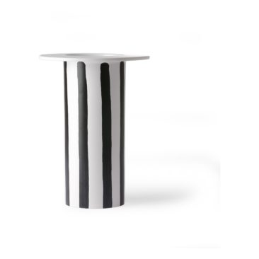HK Living - Vase en céramique à rayures